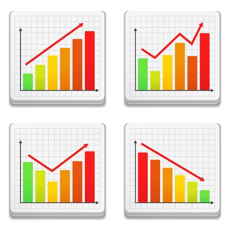 Graphs icons Stock Vector - 14897756