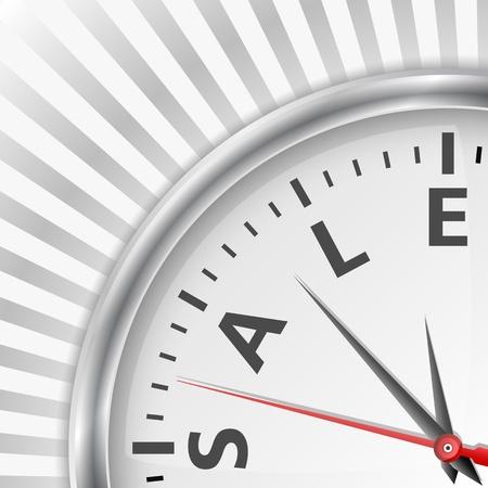 special service: Sale time concept Illustration