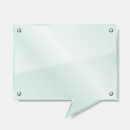 Glass board shaped as speech bubble Vector