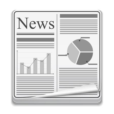 Newspaper icon Stock Vector - 14897754