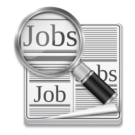 Job-Suche-Konzept Vektorgrafik
