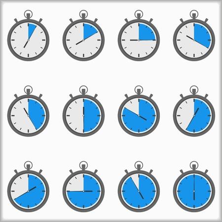 cronometro: Iconos del temporizador Vectores