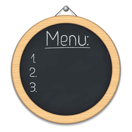 Round blackboard for menu Stock Vector - 15060624