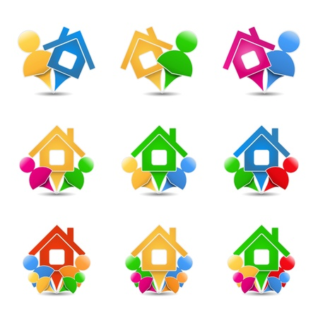 Real Estate Icons Stock Vector - 15060625