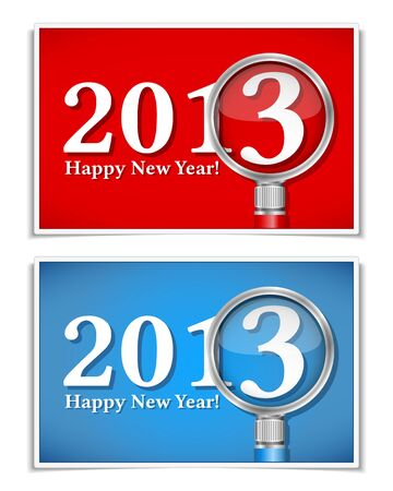 New year cards Stock Vector - 15060629