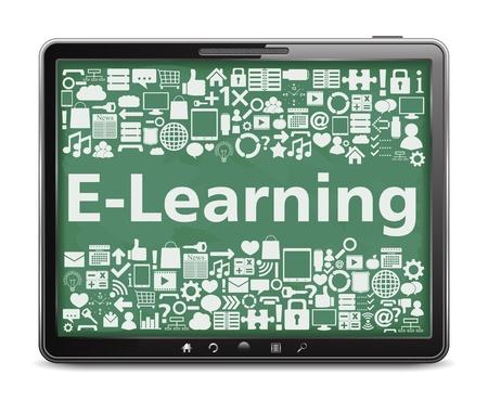 gadget: E-Learning concept de Illustration