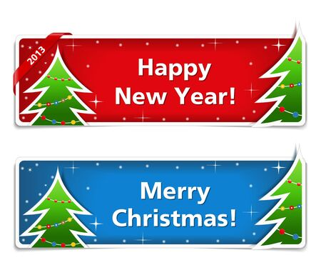New year and Christmas banners Stock Vector - 15136727