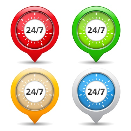 24x7: 24 7 concept