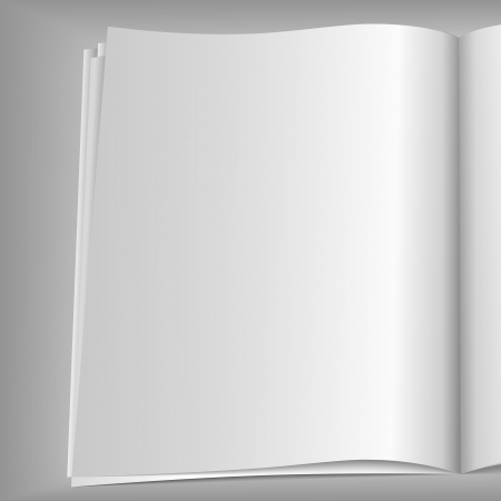 Blank magazine page Stock Vector - 15136717