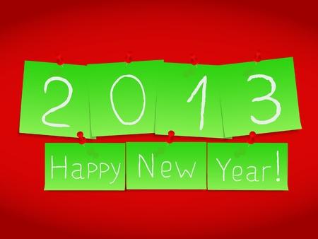Happy new year card Stock Vector - 15136720