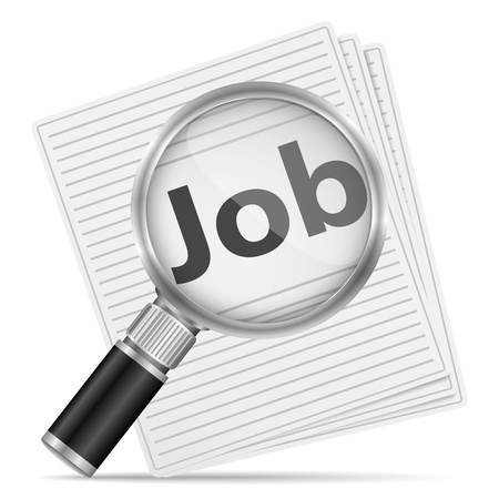 Job search concept Stock Vector - 15136726