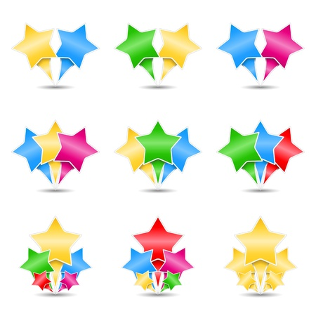 Stars icons, design elements for your logo Stock Vector - 15136699