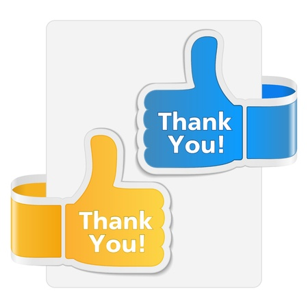 Thank you badges Stock Vector - 15136715
