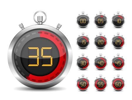 Digital timer Stock Vector - 15239003