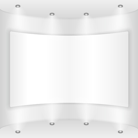 Placard on a round wall Vector