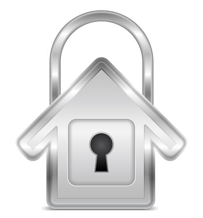 Lock shaped as house Stock Vector - 15238983