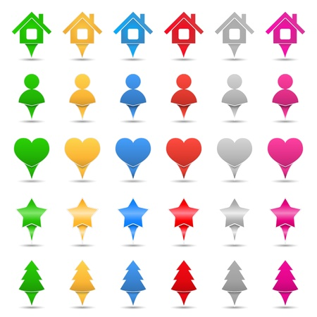 Map Markers Stock Vector - 15238995