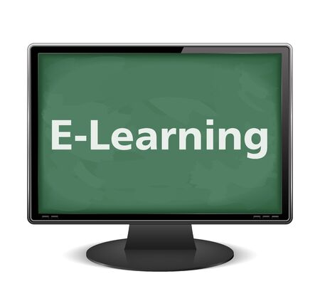 back button: E-Learning Illustration