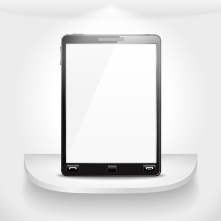 Mobile phone standing on a shelf Stock Vector - 15239004