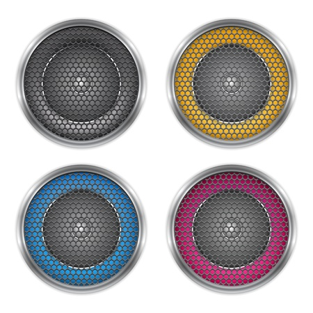 Sound speakers set Vector