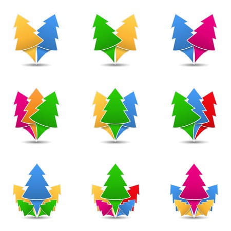 Icons of trees, design element for your logo Vector