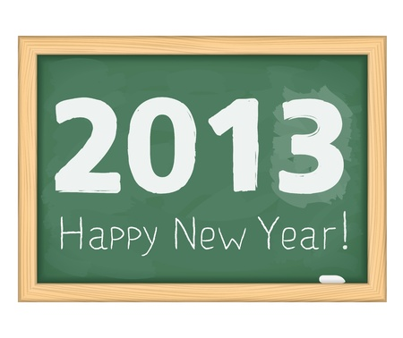 Blackboard with number of new year 2013 Stock Vector - 15333629