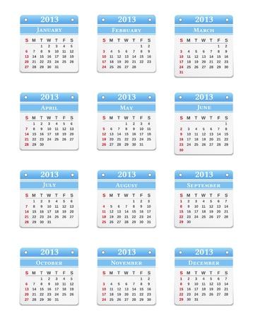2013 Calendar Stock Vector - 15333625