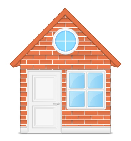 Brick house Stock Vector - 15333632