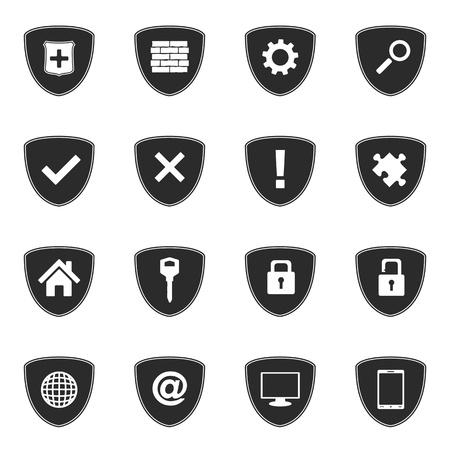 internet mark: Security icons set