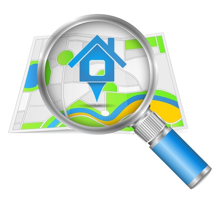 Search for house concept Stock Vector - 15333635