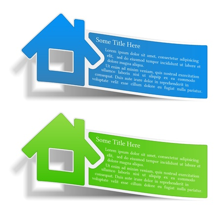 Flyers with a house Stock Vector - 15442513