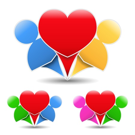Icon of a happy couple Vector