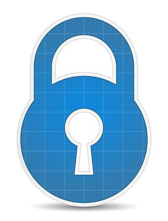 to lock: Icona di blocco Vettoriali