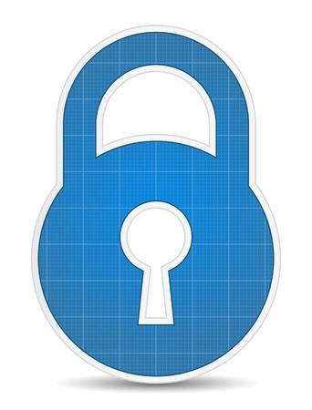 keys isolated: Icono de bloqueo