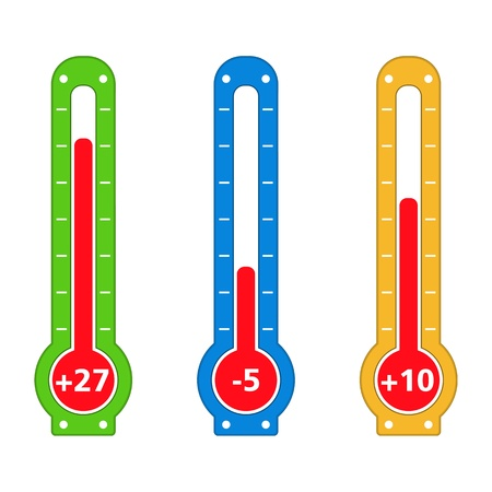 coldness: Simple thermometers Illustration