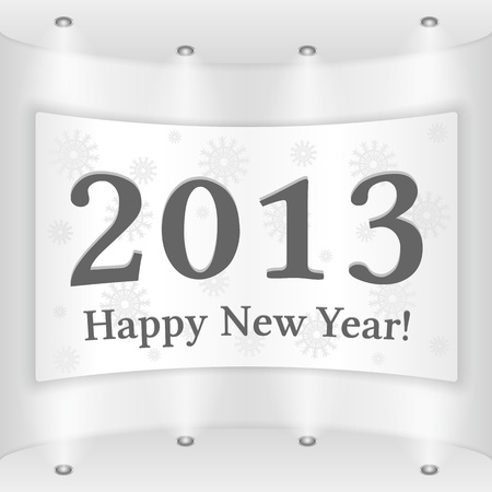 Happy New Year Placard Stock Vector - 15756369