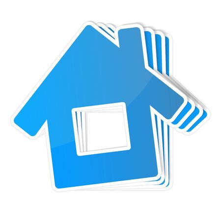 Paper icon of a house Stock Vector - 15756347