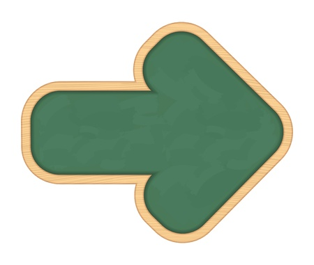 Blackboard shaped as arrow Vector