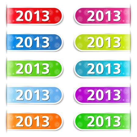 New year tabs Stock Vector - 15756359