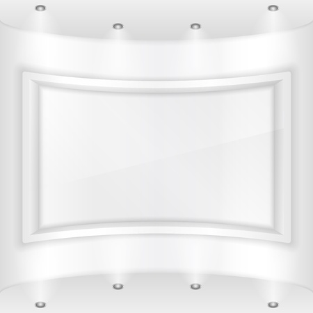 Frame in a gallery Vector