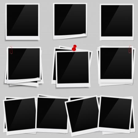 old picture frame: Photo frames Illustration