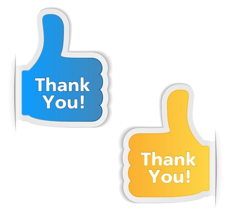 Thank You Labels Stock Vector - 15756336