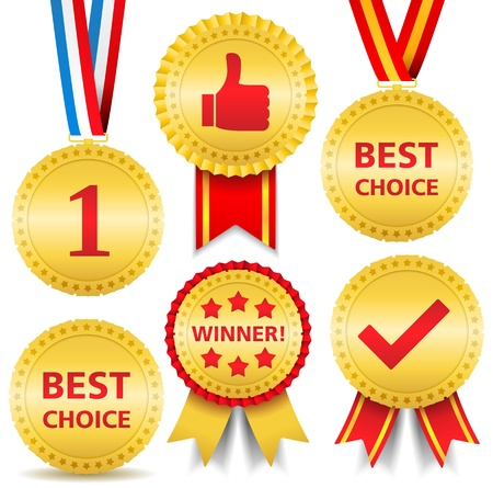Set of different awards Stock Vector - 15866389
