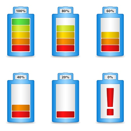 Abstract battery with different level of charge Stock Vector - 15866377