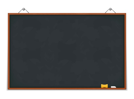 Big horizontal green blackboard Vector