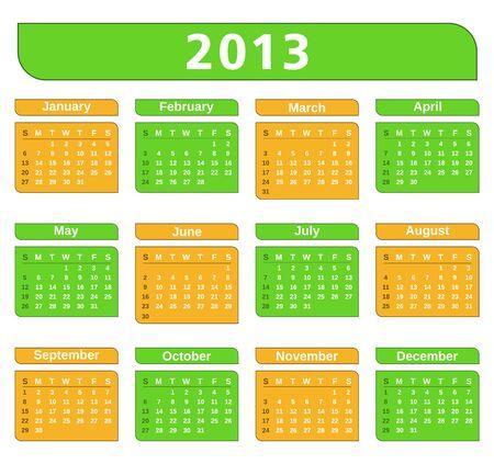 2013 Calendar Stock Vector - 15866384