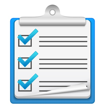 clipboard isolated: Check list icon Illustration