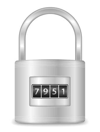 code lock: Metallic lock with code