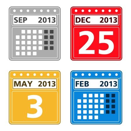 Simple calendar icons Vector