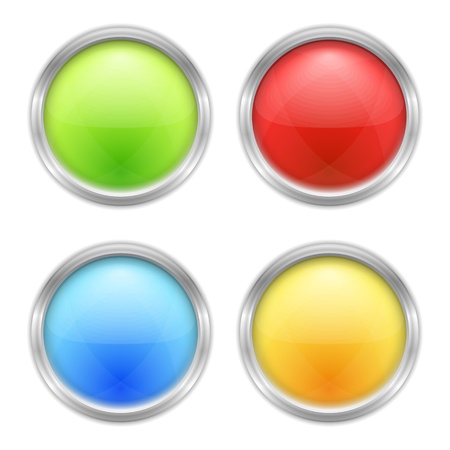Set of four round buttons Vector